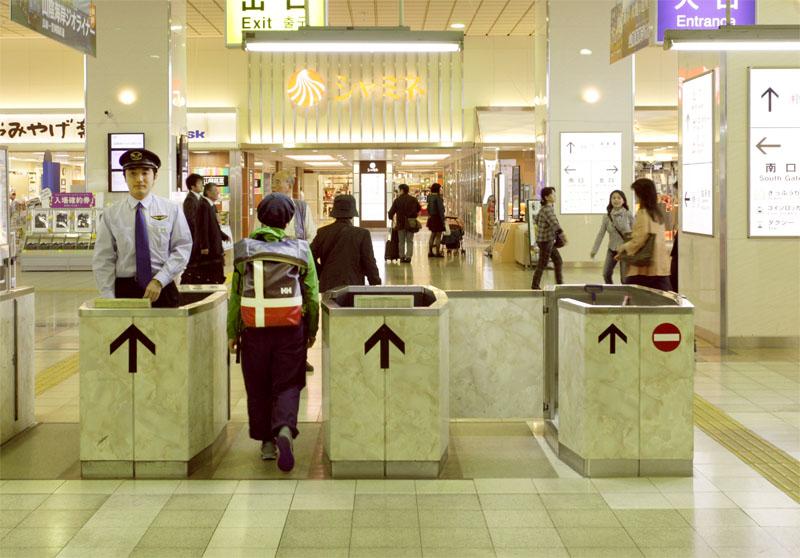 鳥取駅の改札口