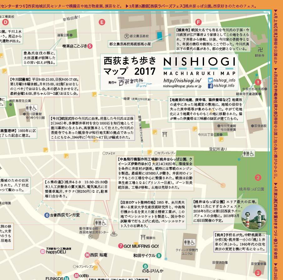 西荻まち歩きマップ2017
