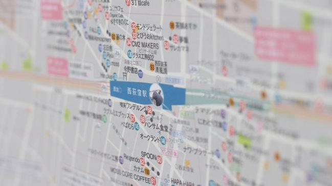 西荻まち歩きマップ 中央部拡大