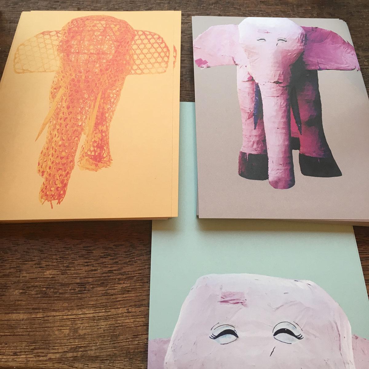 『西荻にいたピンクの象』刊行記念絵ハガキ