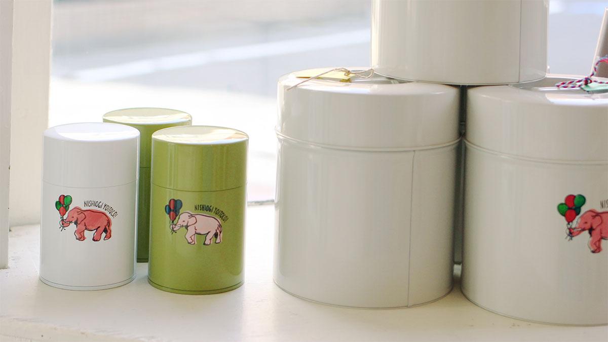 ピンクの象缶