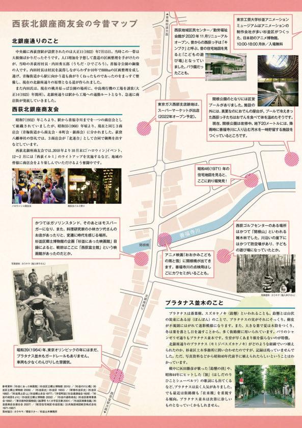 西荻北銀座商友会の今昔マップ